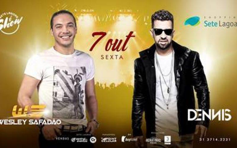 É nesta sexta o grande evento: Wesley Safadão e Dennis DJ se apresentam no Shopping Sete Lagoas