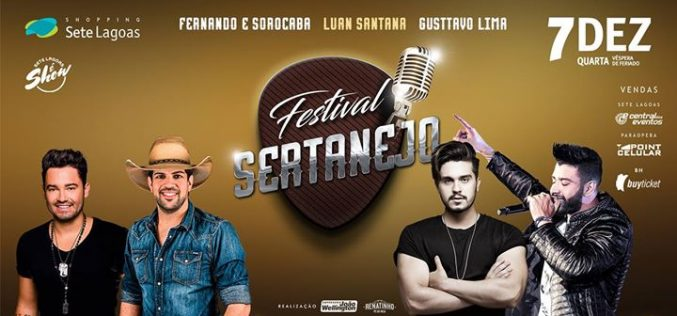 Sete Lagoas recebe o Festival Sertanejo