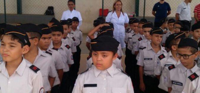 Ato cívico marca a chegada do Colégio Tiradentes em Sete Lagoas