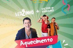 Mc Leozinho e Victor & Fabiano fazem o Aquecimento de Carnaval Na Gruta