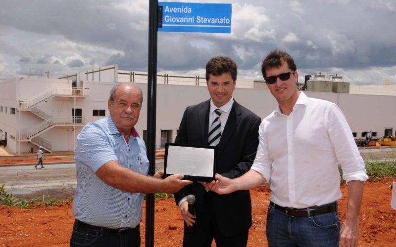 Avenida Giovanni Stevanato é inaugurada