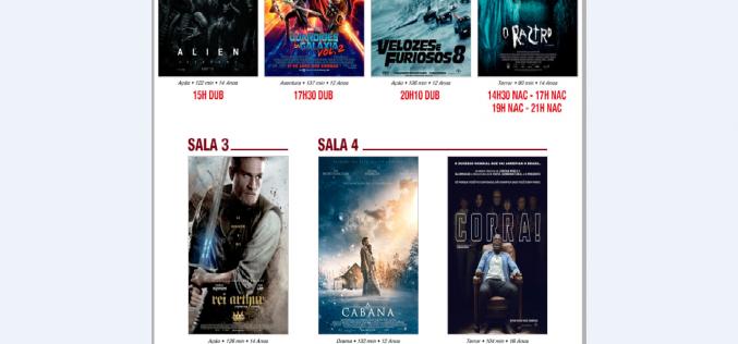 Três estreias hoje no Cineplex no Shopping Sete Lagoas.