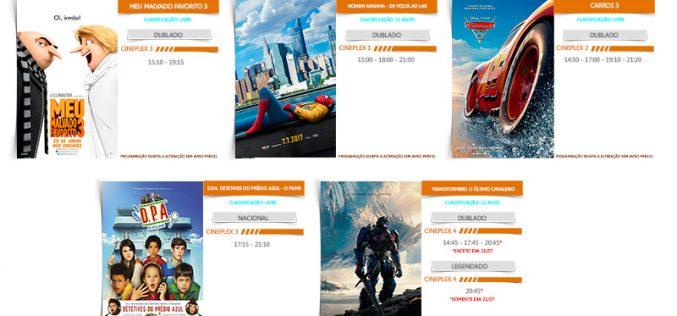 PROGRAMAÇÃO CINEMA DE SETE LAGOAS 20/07 A 26/07