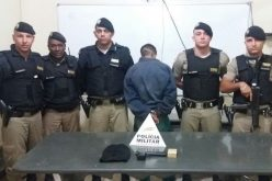 Autor de roubo é preso em flagrante delito na cidade de Paraopeba