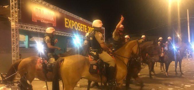 A ação da Polícia Militar na 51ª Exposete