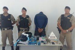 PM prende homem com drogas e produtos de procedências duvidosas