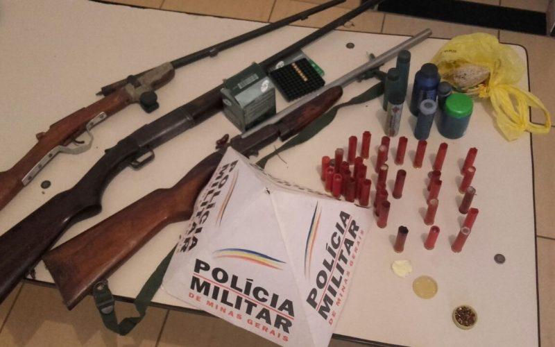 Armas de fogo são apreendidas em Funilândia