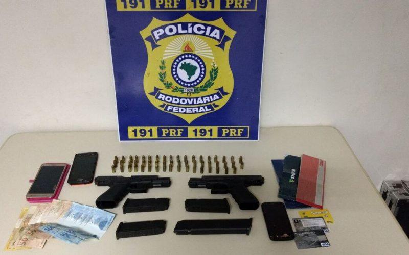 PRF Sete Lagoas captura foragido com extensa ficha criminal e apreende duas pistolas 9 mm de uso restrito