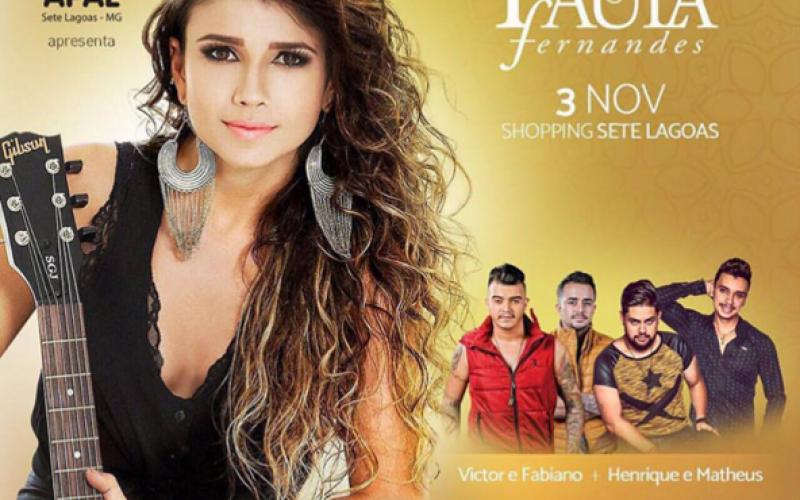 Paula Fernandes faz show beneficente em prol da APAE em Sete Lagoas