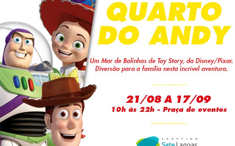 Toy Story: Quarto do Andy fica disponível no Shopping até domingo