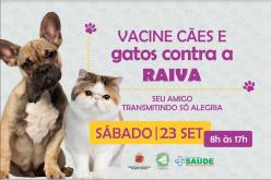 Campanha de vacinação Antirrábica acontece neste fim de semana