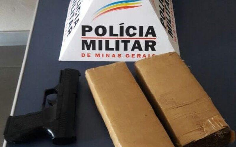 Polícia Militar apreende tabletes de maconha no Bernardo Valadares