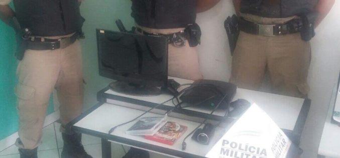 Polícia Militar recupera produtos furtados em Baldim