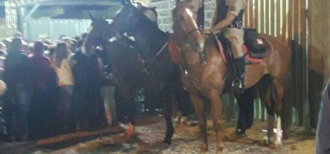 Polícia Militar divulga resultado da ação durante o evento no Parque de Exposições JK