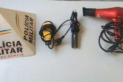Polícia recupera objetos furtados em barbearia de Paraopeba