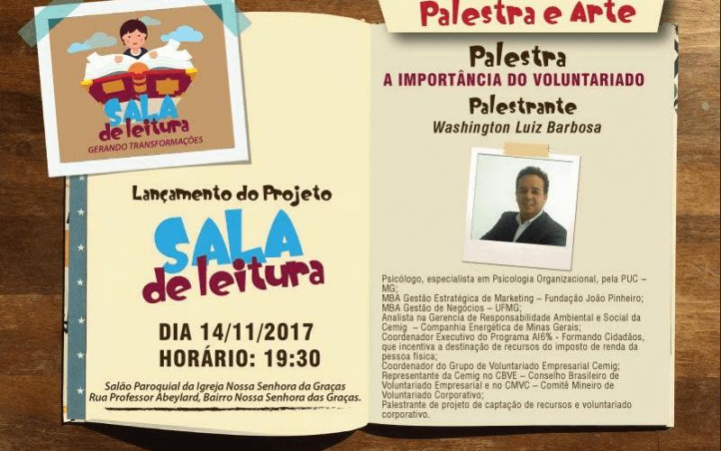"""Projeto """"Sala de Leitura"""" é lançado em Sete Lagoas nesta terça-feira (14)"""