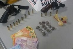 Armas, drogas e munições são apreendidas pela Polícia no Bernardo Valadares