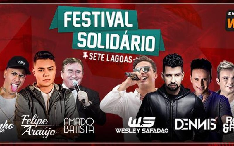 Festival Solidário: Nesta quarta-feira (10) se iniciam as vendas do lote de ingressos promocional