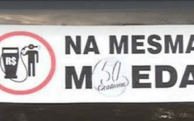 Neste sábado (13) motoristas protestam contra alta do combustível em Sete Lagoas