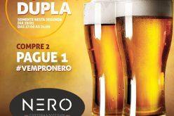 Segunda-feira de Chopp em dobro na Nero Espeteria