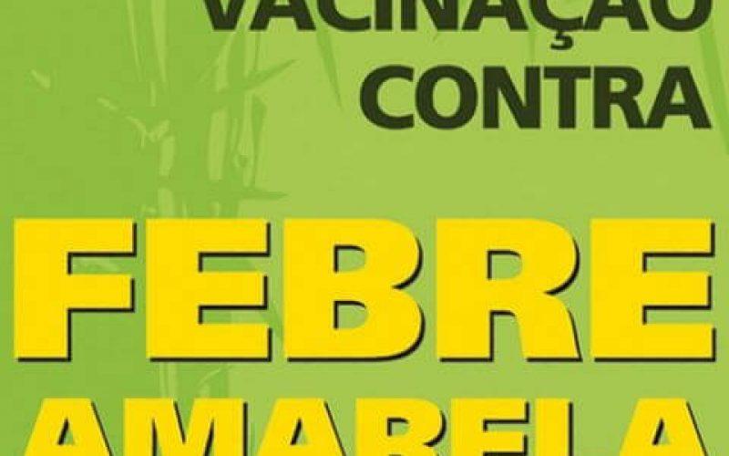 Vacinação contra a Febre Amarela em Sete Lagoas