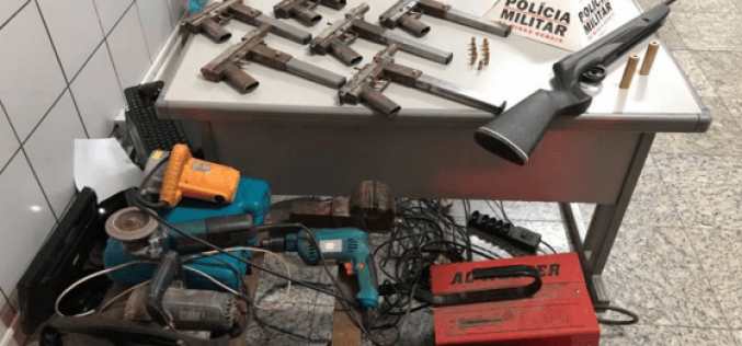 PM apreende 6 submetralhadoras de fabricação caseira em Sete Lagoas