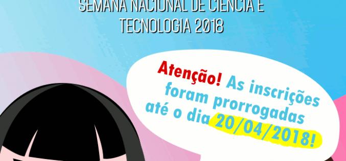 Concurso que vai eleger identidade visual da SNCT 2018 tem inscrições prorrogadas até dia 20
