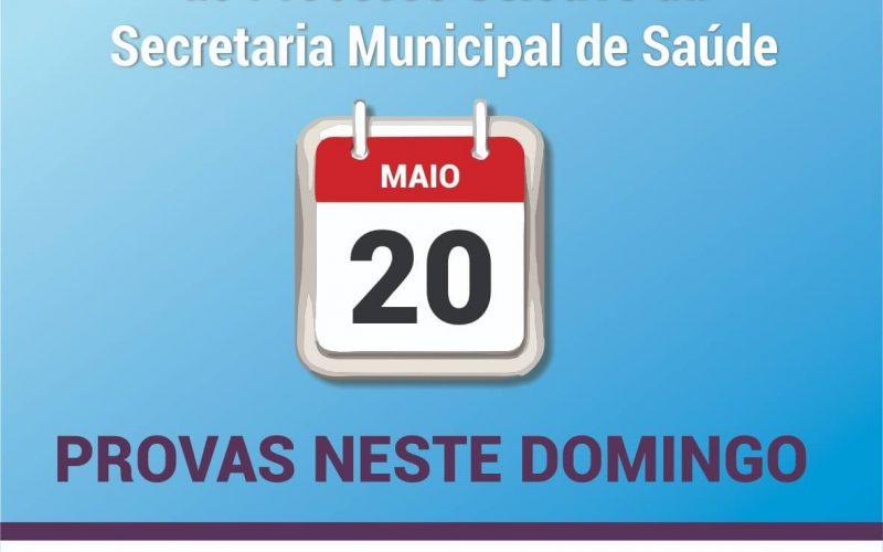 Processo seletivo da Secretaria de Saúde acontece neste domingo (20/5)