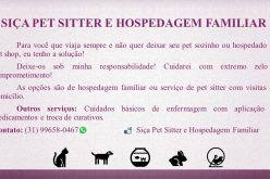 Siça Pet Sitter e hospedagem familiar