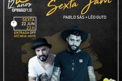 Pablo Sás e Léo Guto dividem show intimista no Opinião Pub