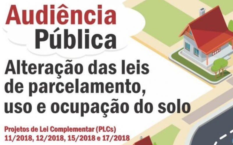 Comissões da Câmara promovem Audiência Pública sobre leis de uso, ocupação e parcelamento do solo, nesta semana