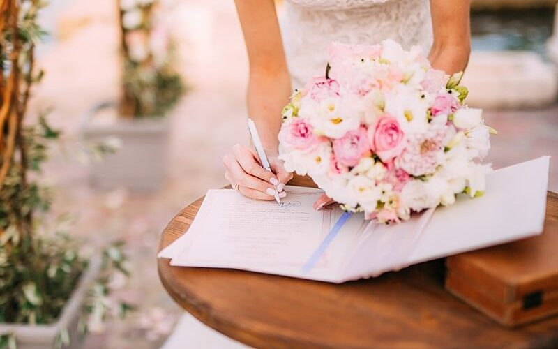 Como organizar o casamento civil