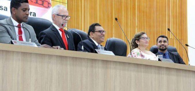Nova Mesa Diretora da Câmara Municipal é empossada com Caramelo reeleito como presidente