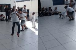 Crianças do Projeto Marearte visitam o Colégio Promove