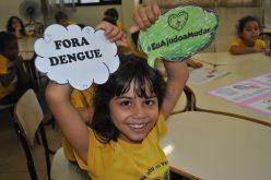 Uma força-tarefa contra Aedes aegypti. Crianças atendidas pela LBV ensinam como combater o mosquito