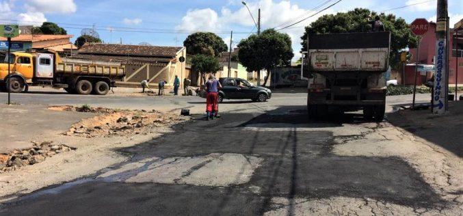 Operação tapa-buracos realizada pela Prefeitura continua em ritmo acelerado