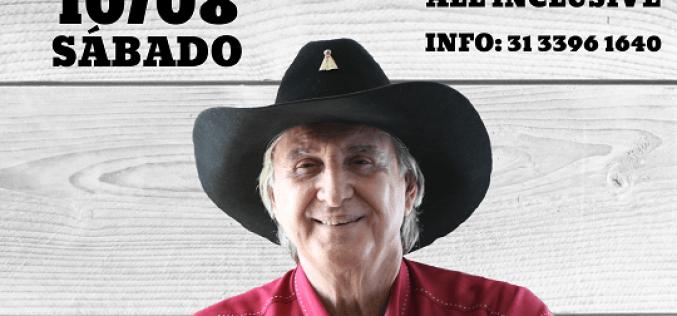 Sérgio Reis faz show em Contagem no mês de agosto