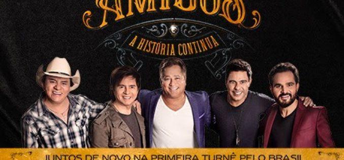 """Belo Horizonte recebe primeiro show da turnê """"Amigos 20 Anos – A História Continua"""""""