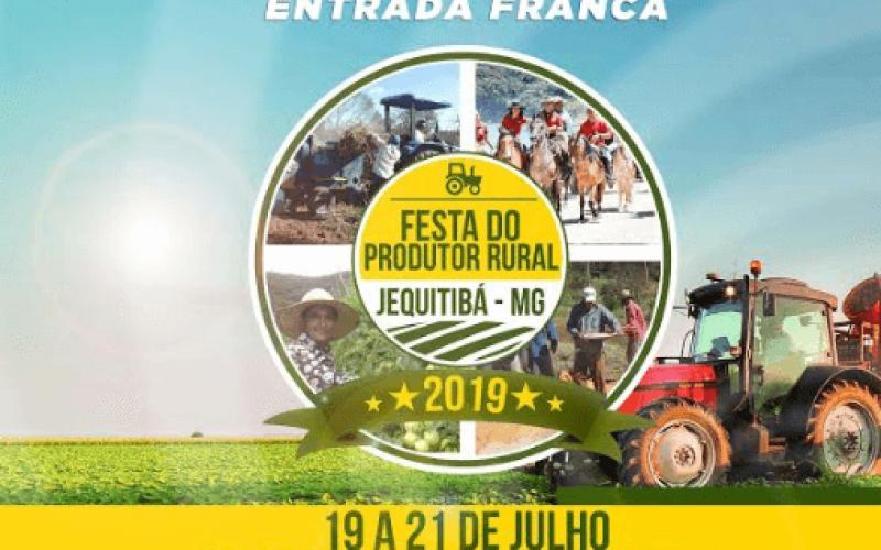 Prefeitura de Jequitibá realiza Festa do Produtor Rural de 19 a 21 de julho