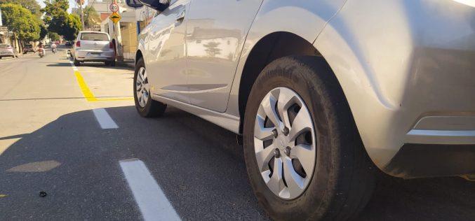 Seltrans realiza pintura e demarcações de áreas de estacionamento no centro de Sete Lagoas