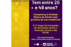 Campanha de vacinação contra o sarampo vai até 30 de junho
