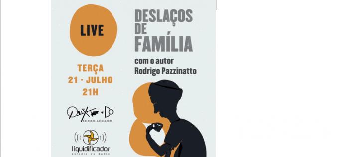 Quixote+DO faz live nesta terça-feira pelo YouTube com o autor Rodrigo Pazzinato e convidados