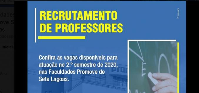 Faculdades Promove estão recrutando professores