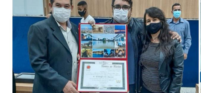 Educação em Destaque : Professor Washington recebe homenagem de Honra ao Mérito da Câmara Municipal de Sete Lagoas