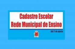 Prazo do cadastramento escolar da Rede Municipal foi prorrogado até dia 21