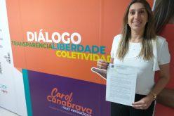 """Vereadora Carol Canabrava mostra a força da mulher na Câmara e quer a criação da """"Patrulha da Mulher"""""""