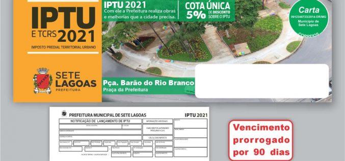 Prefeitura prorroga vencimento do IPTU e outros tributos municipais pelo segundo ano consecutivo