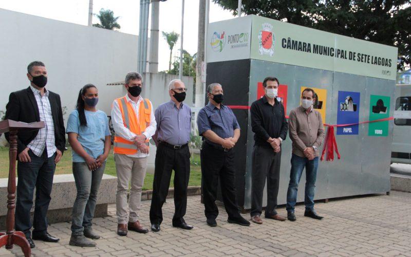 Câmara Municipal inaugura ponto de coleta de seletiva e puxa a fila do município por mais sustentabilidade
