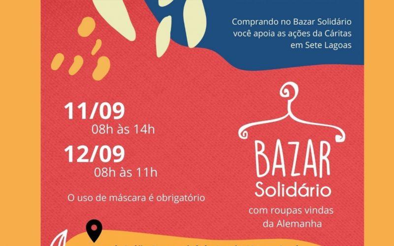 """Cáritas Diocesana promove """"Bazar Solidário"""" no final de semana em Sete Lagoas"""